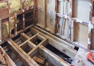 Bathroom Renovation room stripped bare