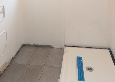 Bathroom renovation - flooring going in