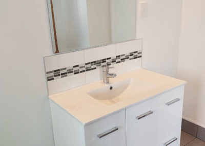 Vanity and decorative tiling